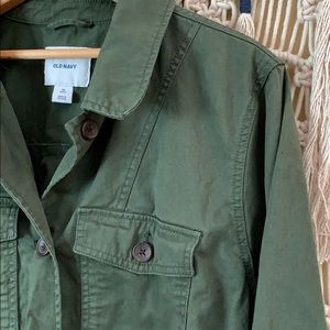 Old Navy Jackets & Coats - Old Navy army-style lightweight jacket, plus size